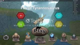 Damage Glitch & Fossil T - Rex Gameplay | Roblox: Dinosaur Simulator