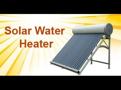 Solar water heater installation & working principle