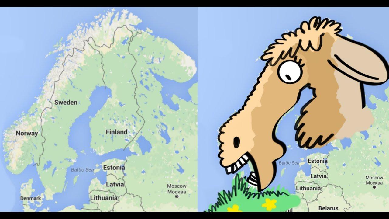 Visual Trick - Learn Northern Europe - YouTube