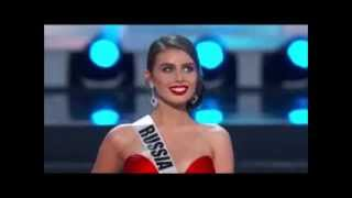 Elmira Abdrazakova in Preliminary Competition at Miss Universe 2013