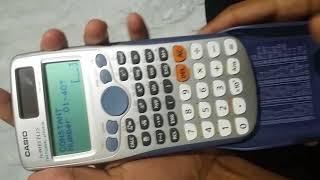 Basics of CASIO fx-991ES PLUS scientific calculator.