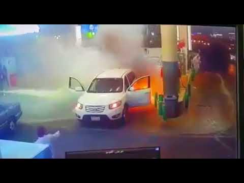 Blast on petrol pump