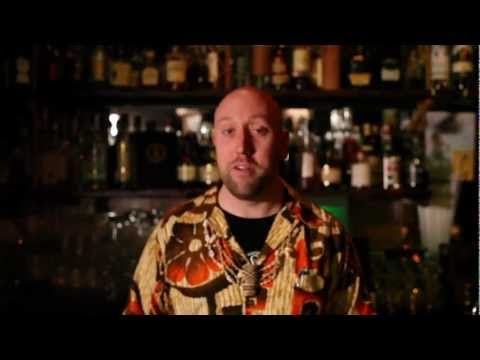Martin Cate from Smugglers Cove makes his proprietary drink called the Smugglers Cove Rum Barrel.