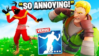 I Trolled Him With NEW Verve TikTok Emote.. (Fortnite)