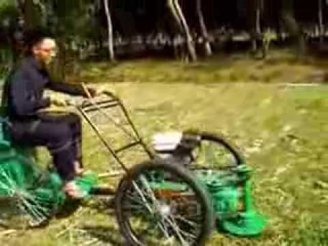 ทดสอบ โครงงานรถตัดหญ้า นั่งบังคับ