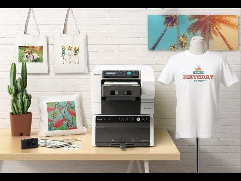 f9b378b10 Introducing the Ricoh Ri 100 Direct to Garment Printer - YouTube
