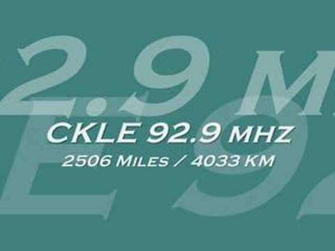 Transatlantic FM DX 2003 - CKLE New Brunswick