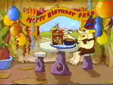 1982 Fruity Pebbles Commercial  Fred's Birthday
