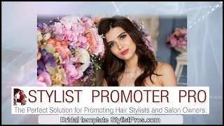 Stylist promotional video Bridal Wedding Event template for Hair Stylists Call 323-529-3480