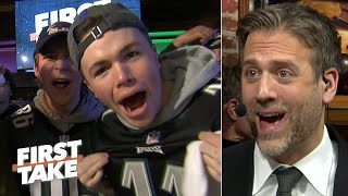 Max Kellerman rips Carson Wentz in front of hyped Eagles fans | First Take