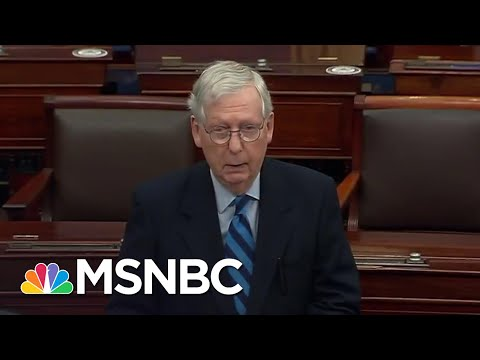 McConnell: Capitol Rioters Were 'Provoked By The President' And 'Fed Lies'   Andrea Mitchell   MSNBC