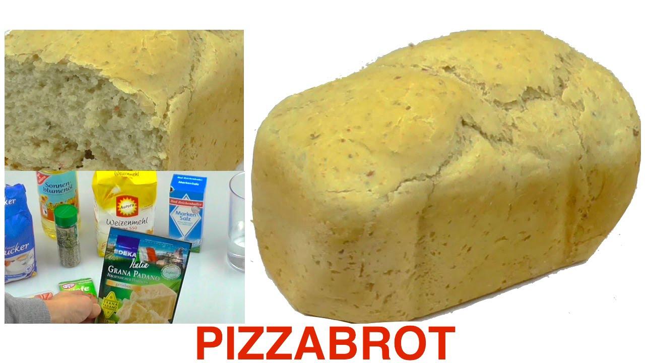 pizzabrot aus dem brotbackautomaten diy youtube