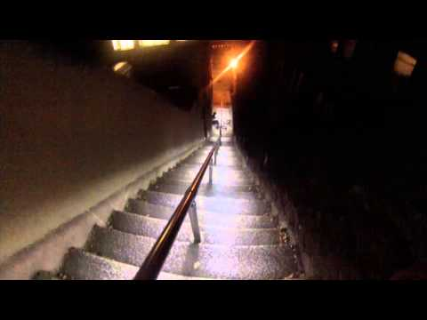 Riding down Jacobs Ladder Falmouth