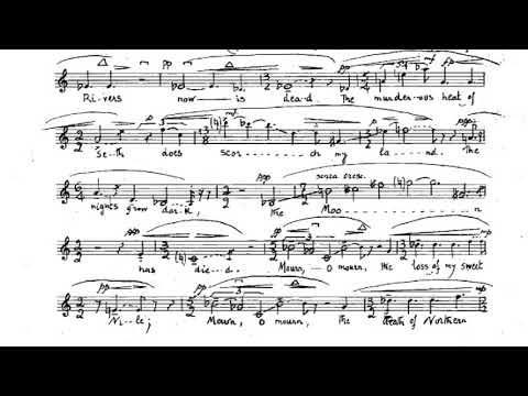 Elisabeth Lutyens - Lament of Isis on the Death of Osiris for Soprano (Score video)