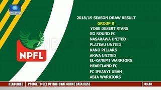 Abridged NPFL 2018/19 League Season Draw Concluded In Delta |Sports This Morning|