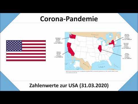 Coronavirus in den USA: Zahlenwerte vom 31.03.2020 mit Blick auf einzelne Bundesstaaten