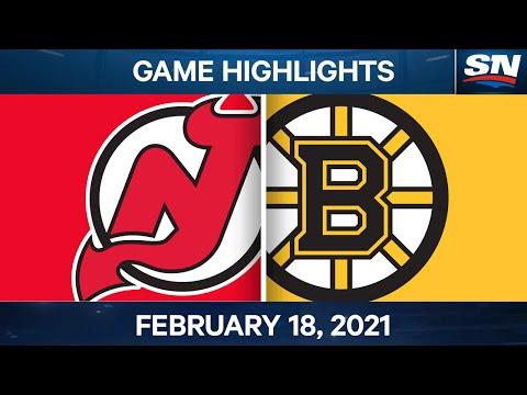 NHL Game Highlights | Devils vs. Bruins - Feb. 18, 2021