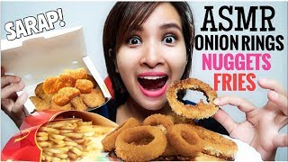 No Talking Asmr Crunchy Fried Onion Rings Chicken Mcnuggets Fries Eating Sounds