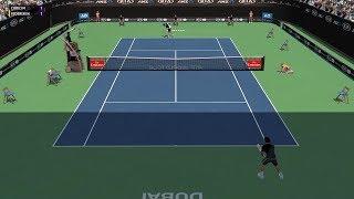 Full Ace Tennis Simulator - Borna Ćorić vs Roger Federer - PC Gameplay