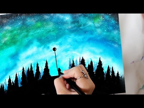 "Speed Painting Watercolor Sky - ""Eternal Return"""