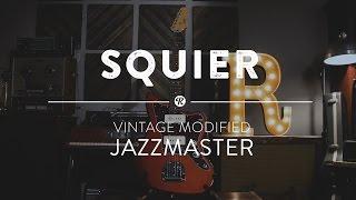 Squier Vintage Modified Jazzmaster Electric Guitar   Reverb Demo Video