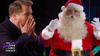 Santa Claus SNAPS on James Corden