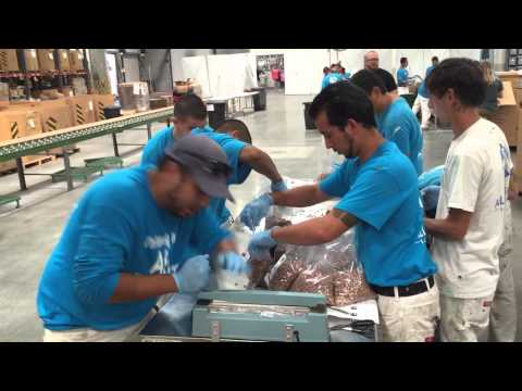 video:ALLBRIGHT 1-800-PAINTING Makes Food Pac's For Children's Hunger Fund