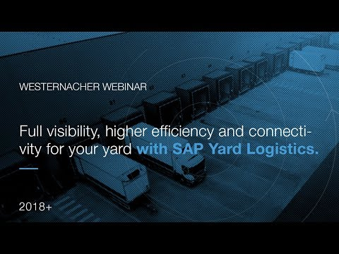 """Webinar : """"Full visibility higher efficiency and connectivity for your yard with SAP Yard Logistics"""""""