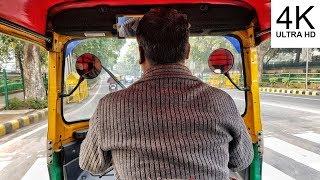 Tuk Tuk ride in Delhi, India (4K)
