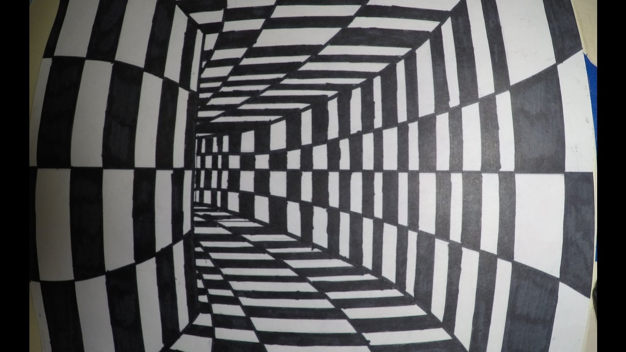 3d optical illusion tunnel youtube 3d drawing website