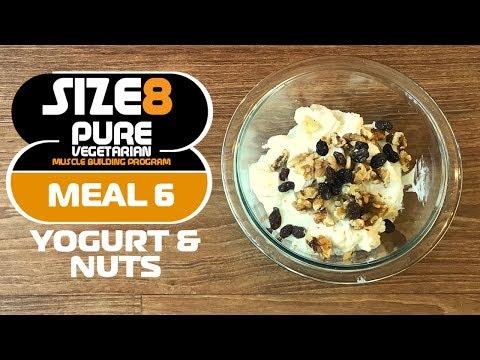 SIZE-8 | Meal 6 - Yogurt & Nuts  | Pure Vegetarian Muscle Building Program by Guru Mann