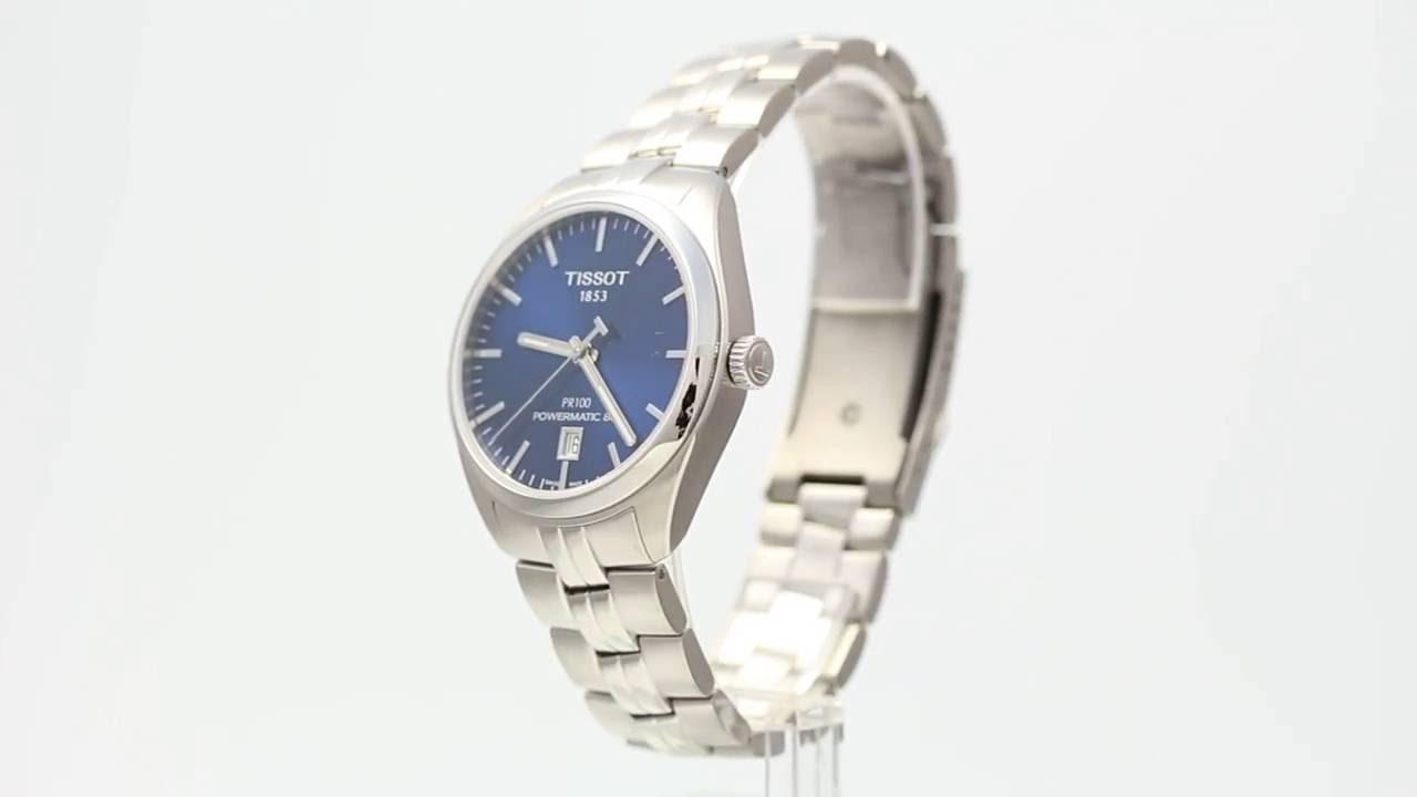 Tissot Pr 100 Automatic T101 407 11 041 00 Watchia Com Youtube