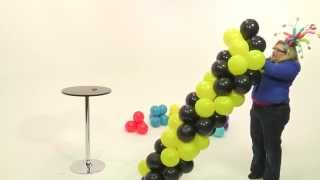 How To Make a Balloon Tower- Chevron Pattern
