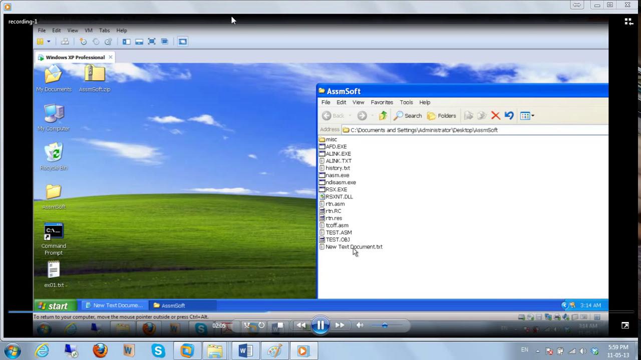 Cs401 Nasm Installation On 32 Bit System And Running First Program  Ali  Imran 04:52 HD
