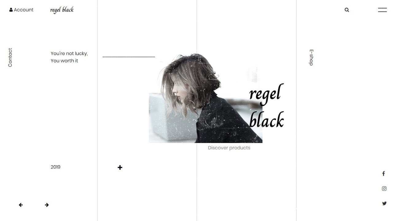 Speed Code - Minimal Fashion Website Landing Page Concept