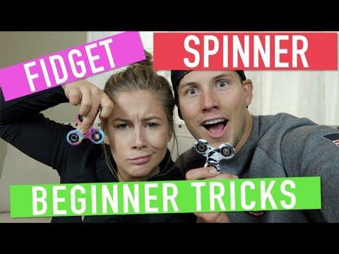 FIDGET SPINNER BEGINNER TRICKS CHALLENGE!!   Shawn Johnson