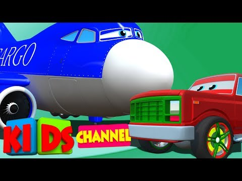 Pick up truck & cargo plane | 3D cartoon cars for children