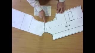 Построение выкройки рукава и воротника к детскому пальто. Часть 2.