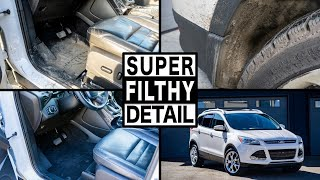 SUPER FILTHY FULL CAR INTERIOR & EXTERIOR CLEANING | Full Detailing of a Ford Escape