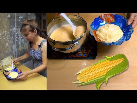 Молочная кукурузная каша - быстро, просто и вкусно.