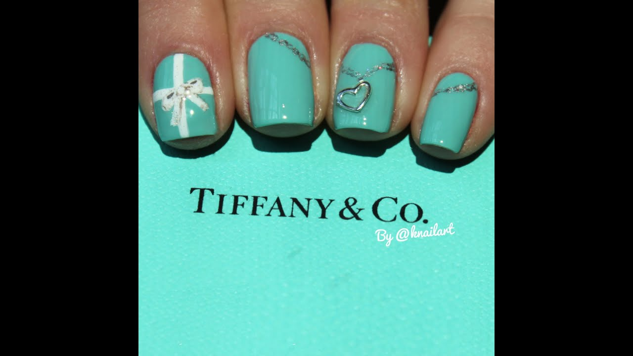 Tiffany co inspired nail art tutorial youtube for Where is tiffany and co located