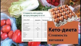 Стоимость питания на кето