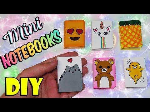 ♥ DIY: Kawaii and Cute Mini Notebooks ♥