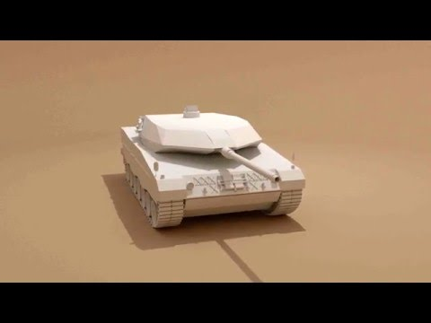 Leopard 2 Turntable Blender model (Work In Progress)