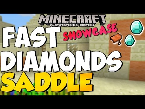 MineCraft TU19 PS4 & PS3 Seed Showcase| FAST SADDLE & DIAMONDS| Title Update 19 Review