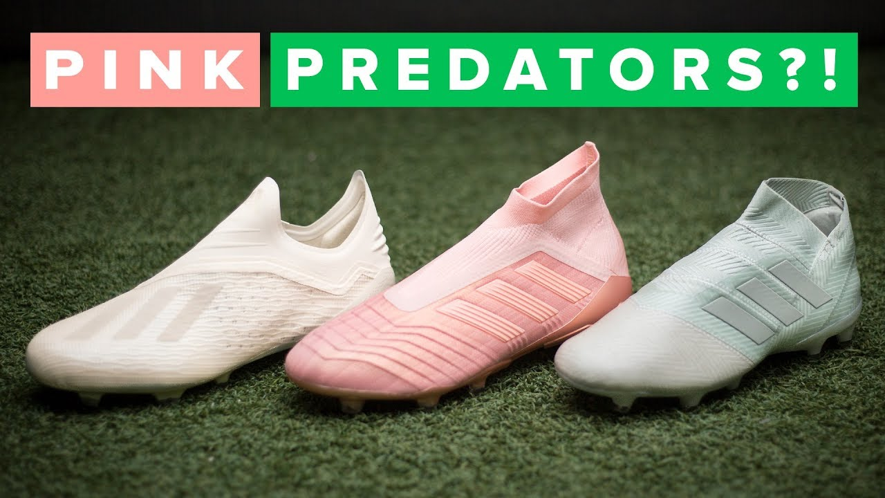 official photos 4c4b9 d5267 PINK PREDATORS?! adidas Spectral Mode football boots - YouTube