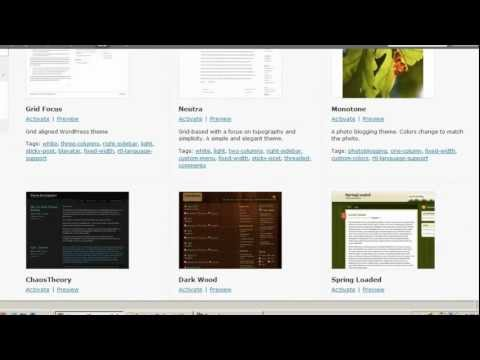 WordPress 3 Tutorial 10: Introduction to Themes