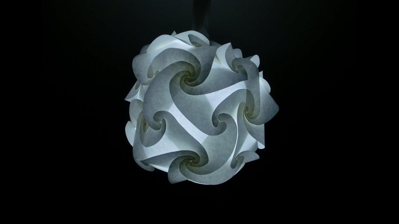 Baufassungsverkleidung lampe luna aus lichterpapier for Lampen basteln