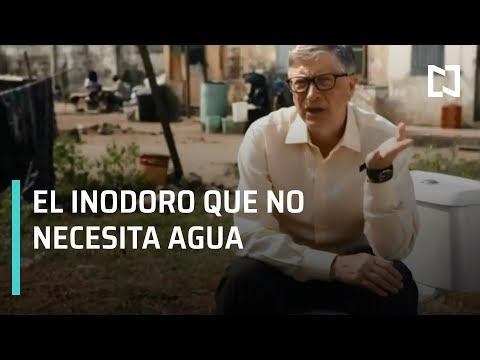 Bill Gates presenta un novedoso inodoro que funciona sin agua