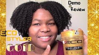 Eco Styler Gold Gel WORKS on my TYPE 4 Natural Hair! DEMO & Review! Ft Soultanicals 😊